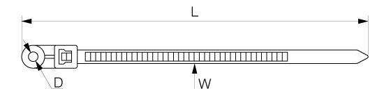 Кабельная стяжка с креплением